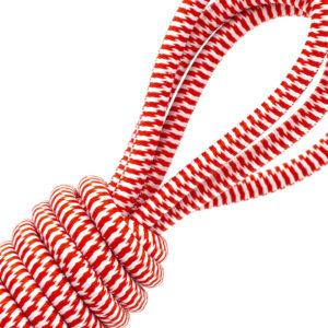 Cordon élastique rouge et blanc - 705/020 - D02 D05