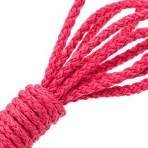 Cordon tricoté rose