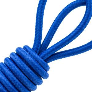 Surtressage bleu sur jonc