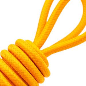 Surtressage jaune sur jonc