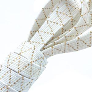 Tresse élastique blanche avec Lurex® doré