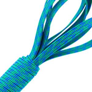 Tresse élastique bleue et verte