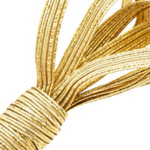 Tresse élastique en Lurex® doré
