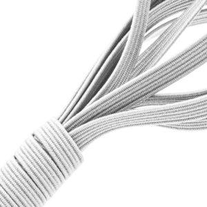 Tresse élastique hypoallergénique blanche