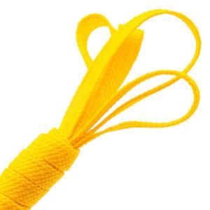 Tresse plate jaune citron