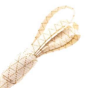 Tresse élastique en coton bio avec fils dorés en Lurex®