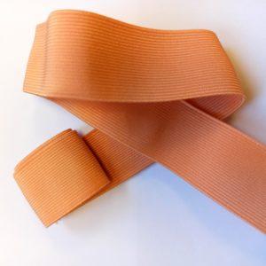 Ruban élastique taffetas couleur pêche