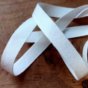Ruban taffetas en coton blanc 10mm - T1001/0100 - A02