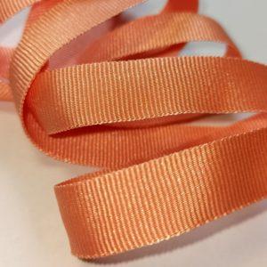 Ruban taffetas en polyester brillant couleur pêche - GT2102/019 - Z918