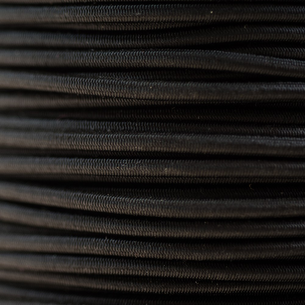 Cordon élastique noir non feu